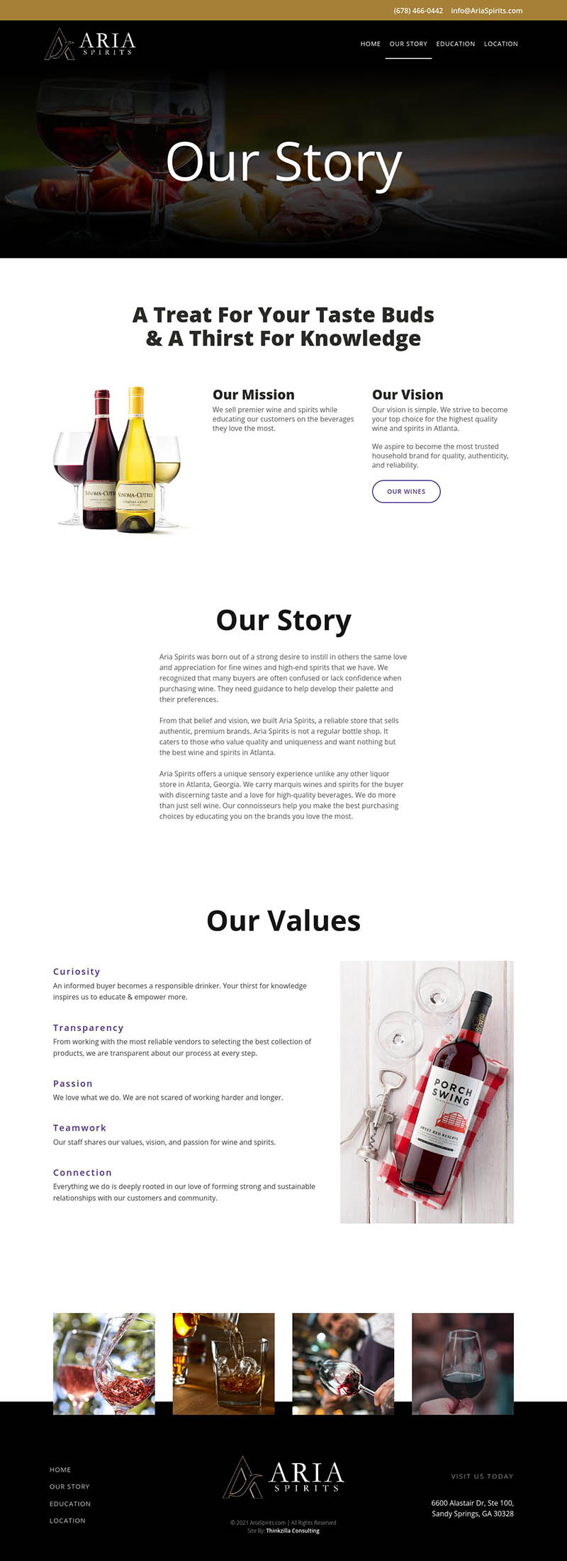 Aria Spirits - Our Story