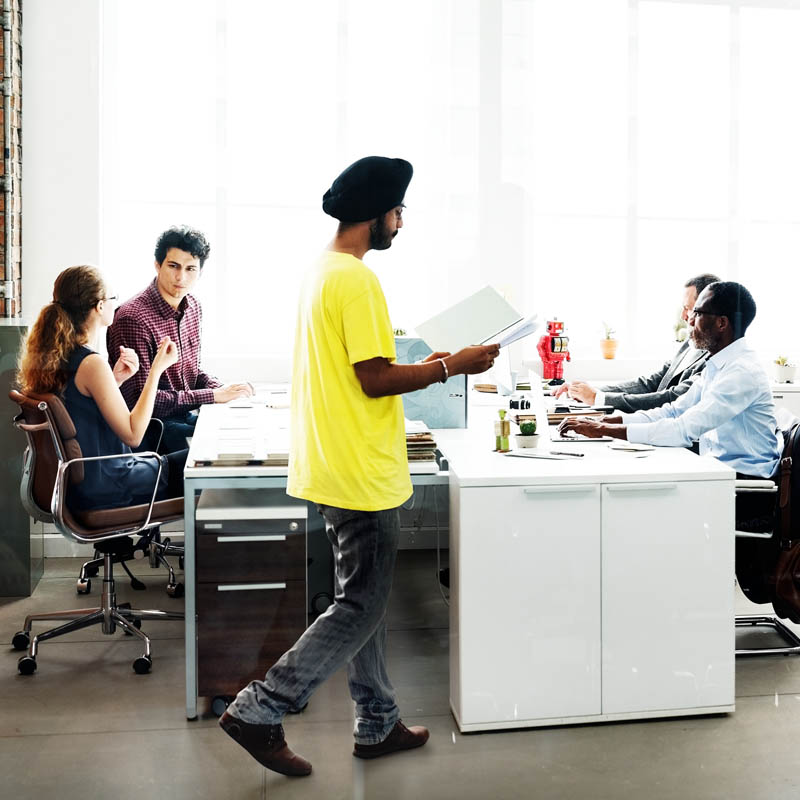 Multicultural Office Workers